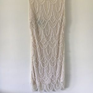 Dresses & Skirts - White beaded party dress